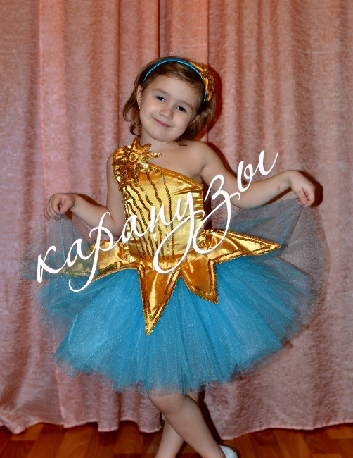 Новогодний костюм для девочки своими руками звездочка
