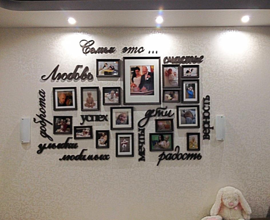 Панно из фотографий на стену