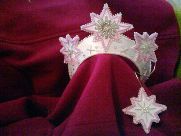 Как сделать новогоднюю звезду на голову