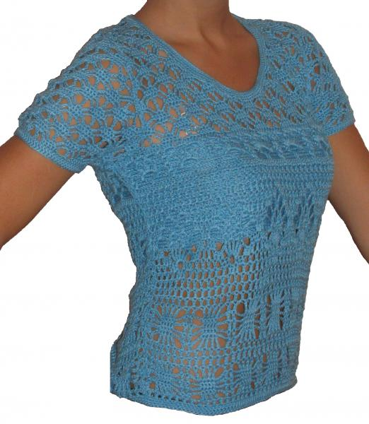 Вязание крючком футболки женской