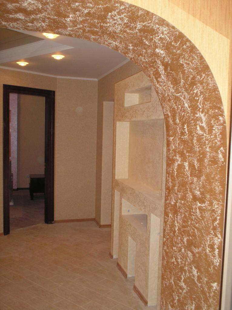 Оформление арки в квартире обоями своими руками 18