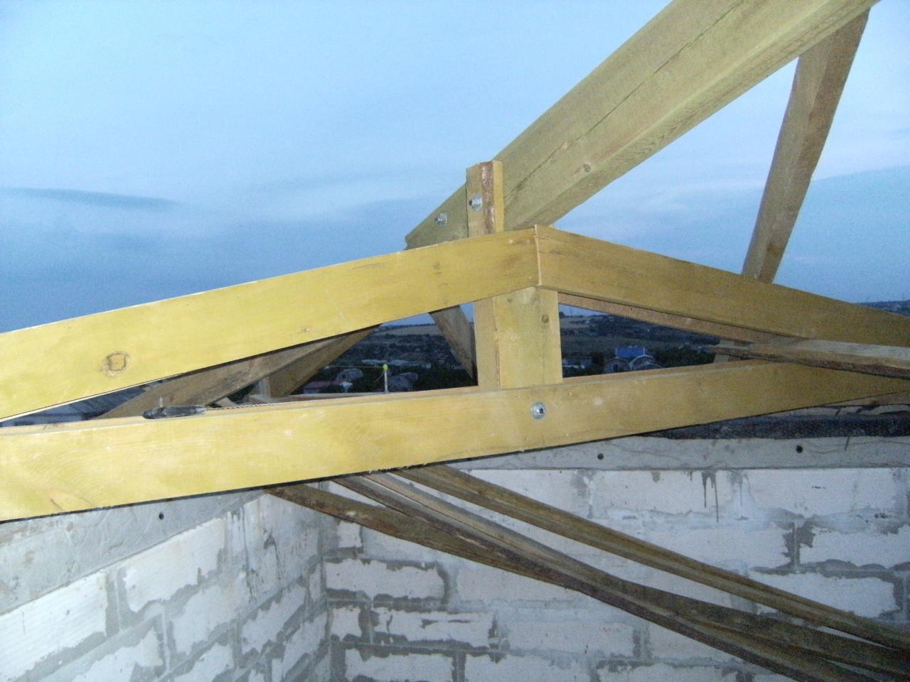 Двухскатная крыша на гараж: обзор конструкции монтажные инструкции 85