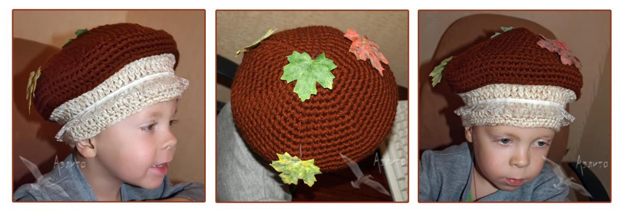 Связать шапочку гриба