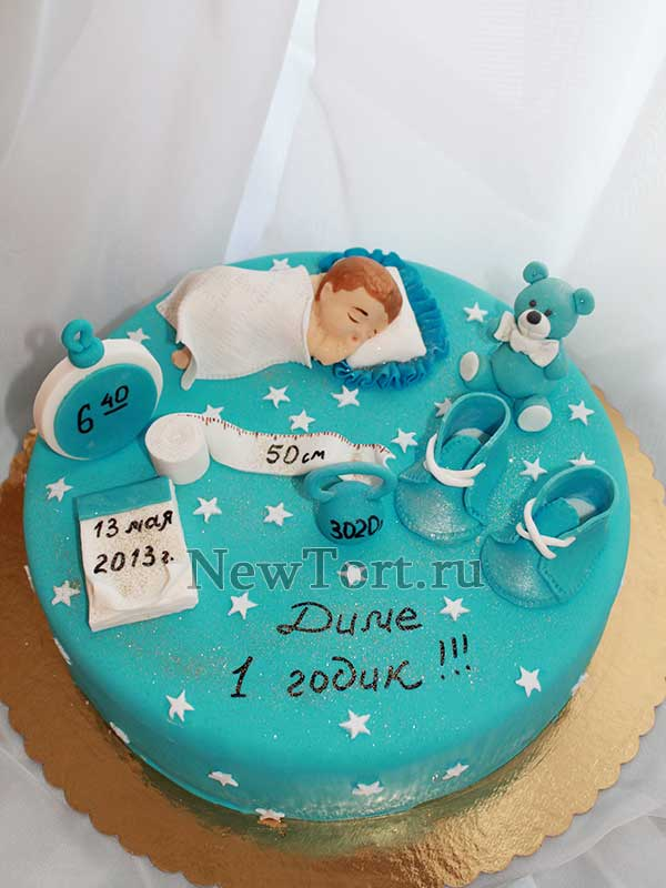 Торт на день рождения 1 годик мальчику