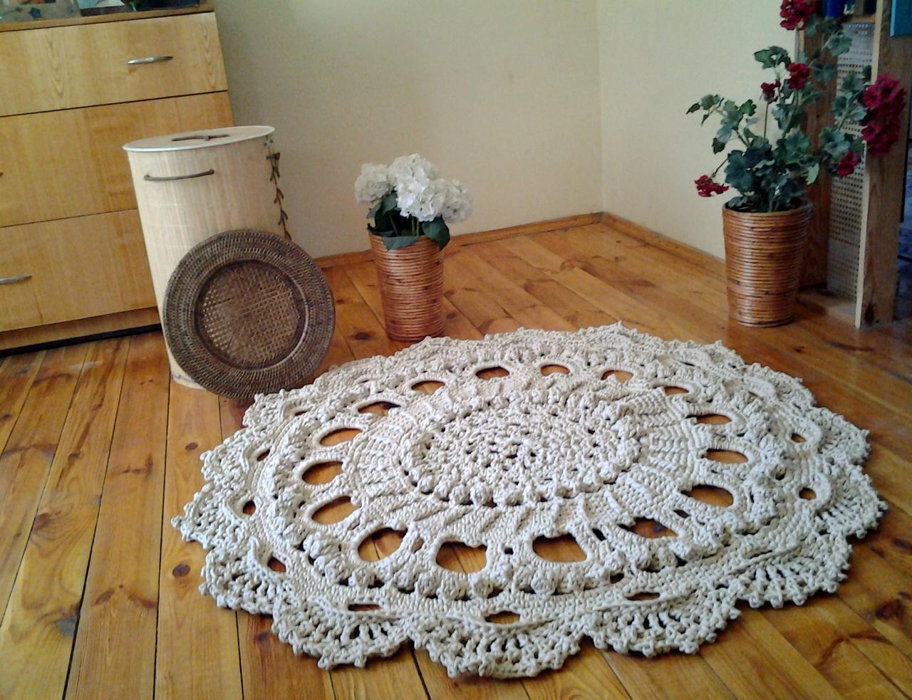 Вязание ковров из шнура спицами 57